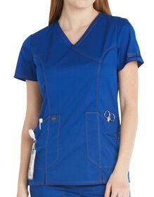 Women's Essence Mock Wrap Scrub Top - Galaxy Blue (GBL)