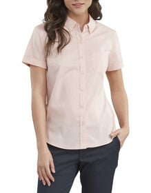Women's Stretch Button-Up Shirt - Rose Pink (QW)