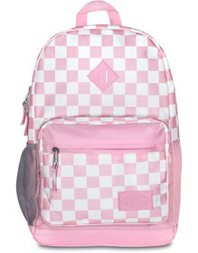 Study Hall Pink Checkered Backpack - Pink White Checkered (CKW)