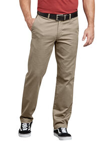 Dickies X-Series Active Waist Slim Tapered Fit Washed Chino Pants - Desert Khaki (RDS)