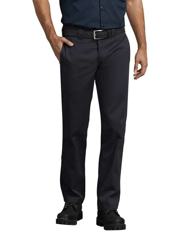 9132a313a733 Slim Fit Straight Leg Work Pants - Black ...