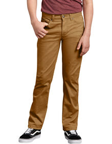 Boy's FLEX Slim Fit Twill Pants - Brown Duck (RBD)