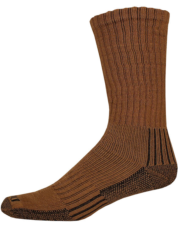 Industrial Heavyweight Cushion Work Crew Socks, 3-Pack, Size 6-12 - Brown Duck (BD)