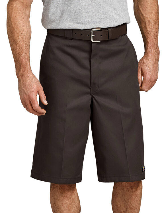 "13"" Loose Fit Multi-Use Pocket Work Shorts - Dark Brown (DB)"