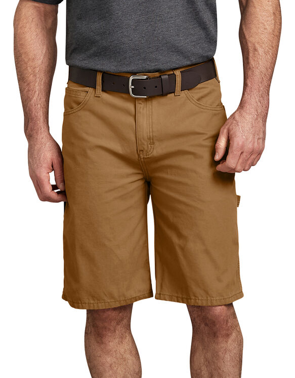 "11"" Relaxed Fit Lightweight Duck Carpenter Shorts - Brown Duck (RBD)"