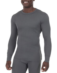 Men's Lightweight Long Johns Thermal Underwear Top - Charcoal Gray (CH)
