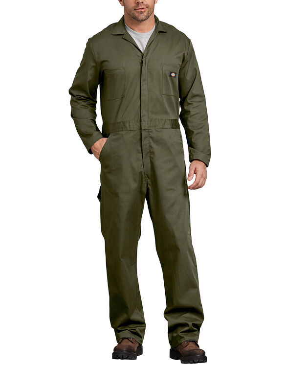 Cotton Long Sleeve Coveralls - Moss Green (MS)