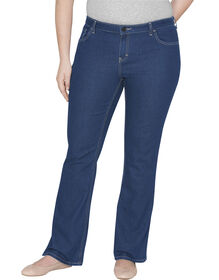 Genuine Dickies Women's Relaxed Bootcut Denim Jeans - Plus - Stonewashed Indigo Blue (SNB)