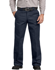FLEX Relaxed Fit Straight Leg Twill Comfort Waist Pants - Dark Navy (DN)