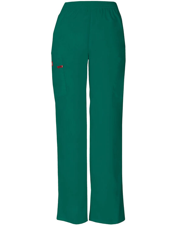 Women's Missy Fit EDS Signature Pull-on Cargo Scrub Pants - Hunter Green (HTR)