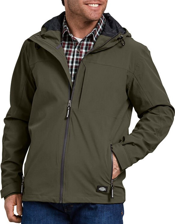 Performance Waterproof Breathable Jacket with Hood - Moss Green (MS)