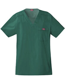 Men's Gen Flex V-Neck Scrub Top - Hunter Green (HTR)