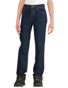 Boys' Flex Slim Fit Skinny Leg 5-Pocket Denim Jeans, 8-20 - Stonewashed Medium Blue (MNT)