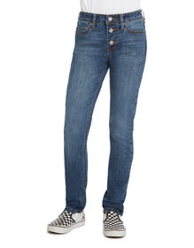 Girls' FLEX 5-Pocket High Rise Skinny Jeans - Stonewashed Indigo Blue (SNB)