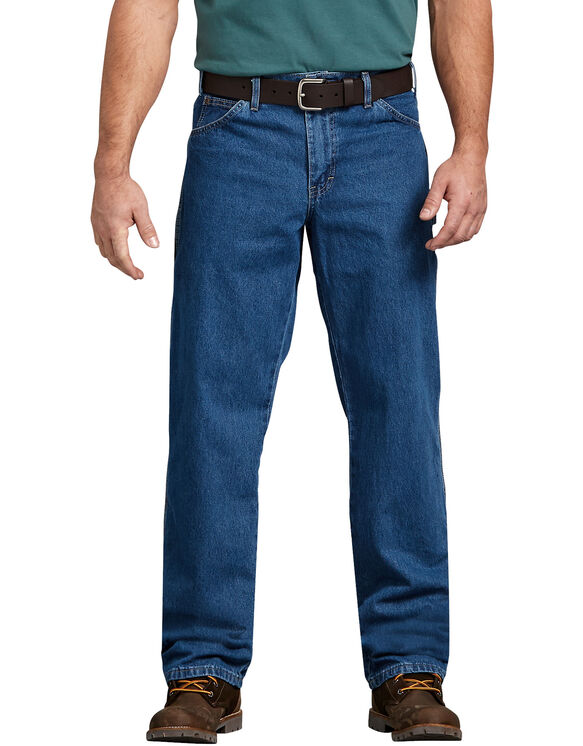 6cc706a8d656 Relaxed Fit Stonewashed Carpenter Denim Jeans - Stonewashed Indigo Blue ...