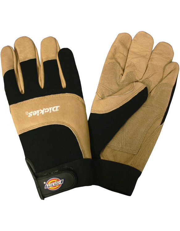 Mechanics Gloves, Split Pigskin, Large - Tan (BR)