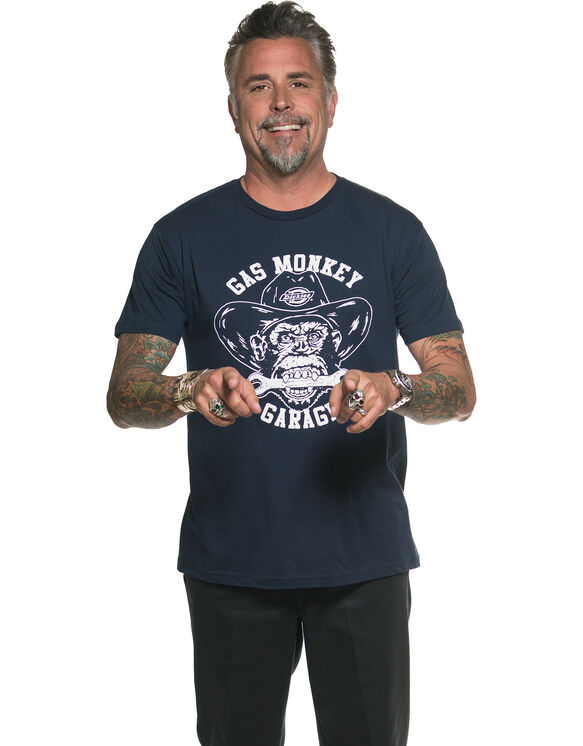 Gas Monkey® Head Graphic T-Shirt - Navy Blue (NVY)