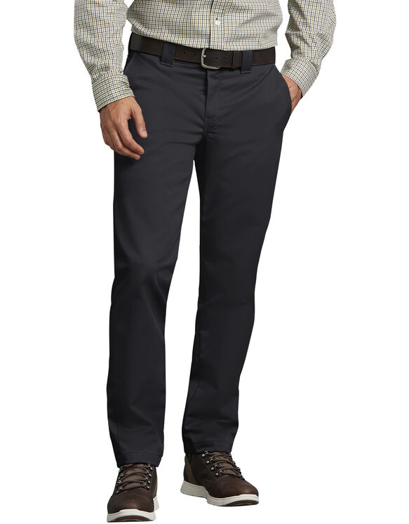 Slim Fit Tapered Leg Ring Spun Work Pants Black
