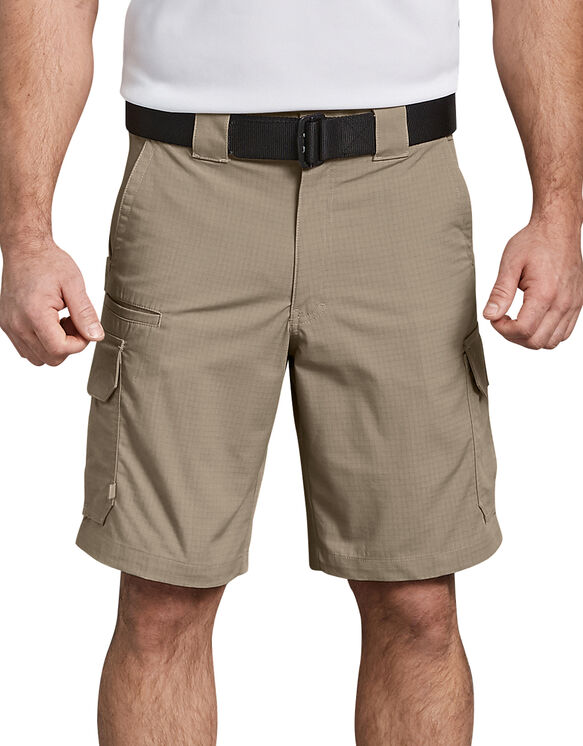 """Tactical 10"""" Relaxed Fit Stretch Ripstop Cargo Shorts - Desert Khaki (DS)"""