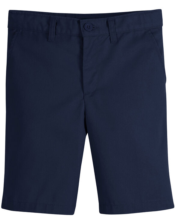 Juniors Schoolwear Slim Fit Flat Front Shorts - Dark Navy (DN)
