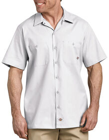 Industrial Short Sleeve Work Shirt - White (WH)