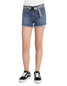 Girls' Straight Fit Fray Hem Shorts - Vintage Wash (VMD)