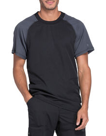 Men's Dynamix Crew Neck Scrub Top - Black (BLK)