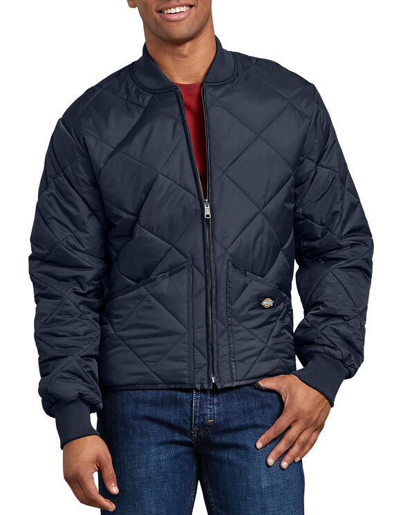 Diamond Quilted Nylon Jacket - Dark Navy (DN)