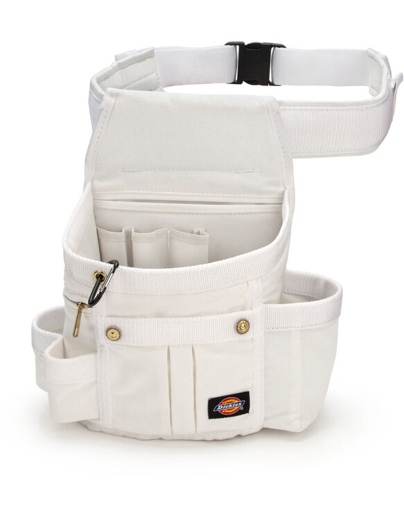 8-Pocket Utility Pouch with 3-Inch Padded Belt - White (WHT)