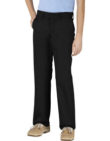 Genuine Dickies Boys' Slim Fit Cell Phone Pocket Pants - Black (BK)