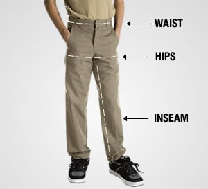 Measuring for Fit for Boy's Pants
