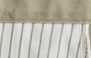 Unique Gray striped pocketing