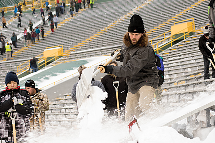 FLEX Sanded Duck Mobility Coat (TC476) at Lambeau Field lifestyle image