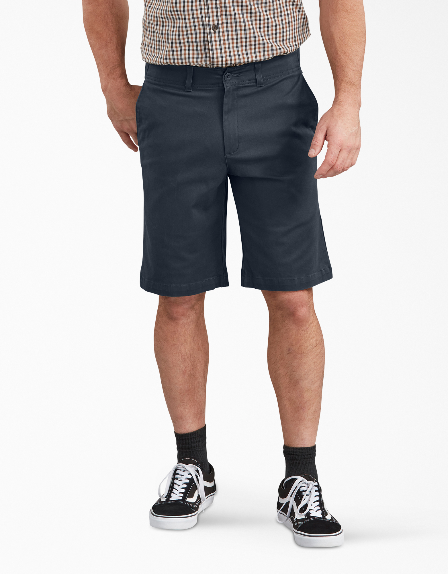 "Dickies X-Series FLEX 11"" Active Waist Washed Chino Shorts - Dark Navy Blue (RDN)"
