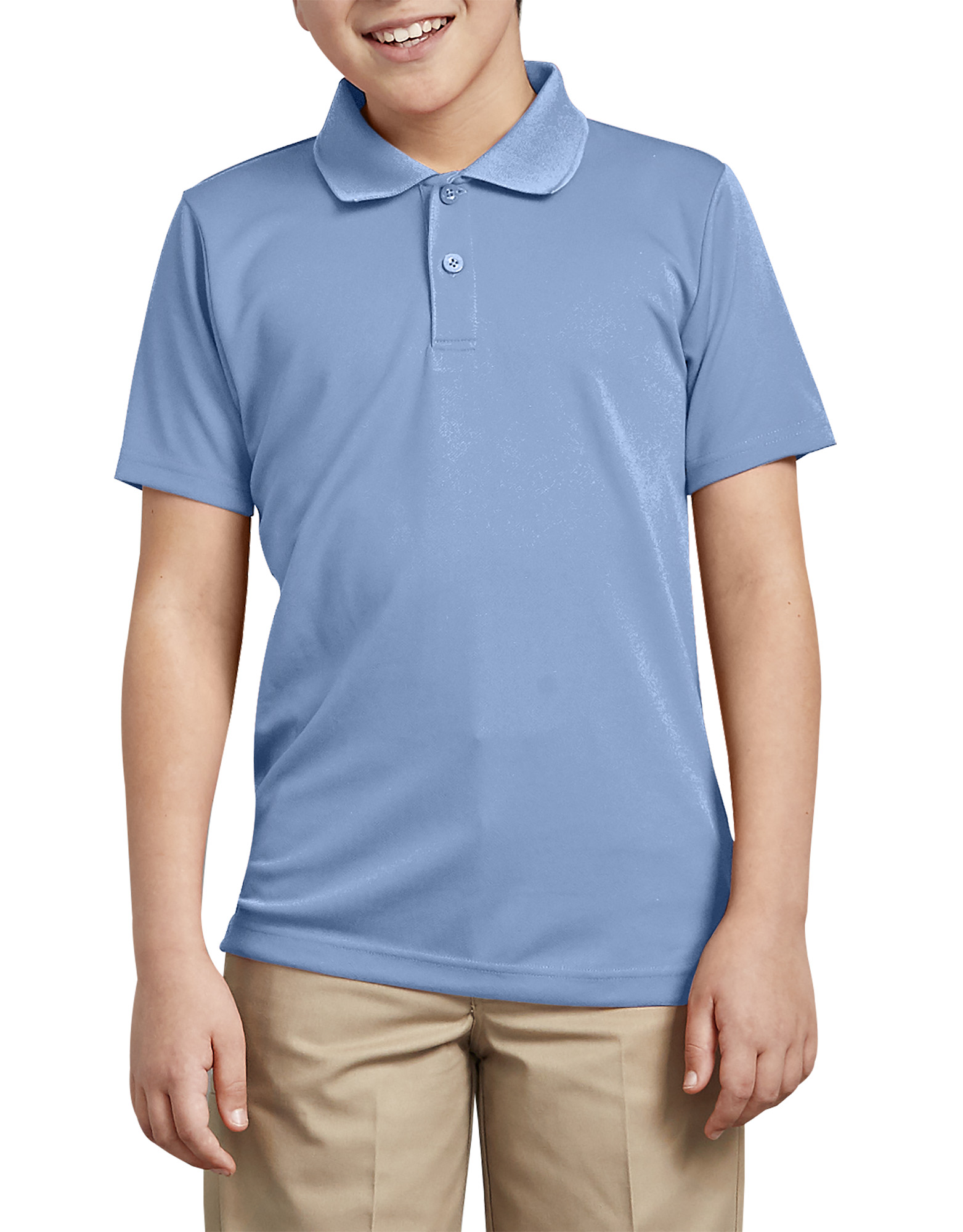 Boys' Performance Polo Shirt, 4-20 - Light Blue (LB)