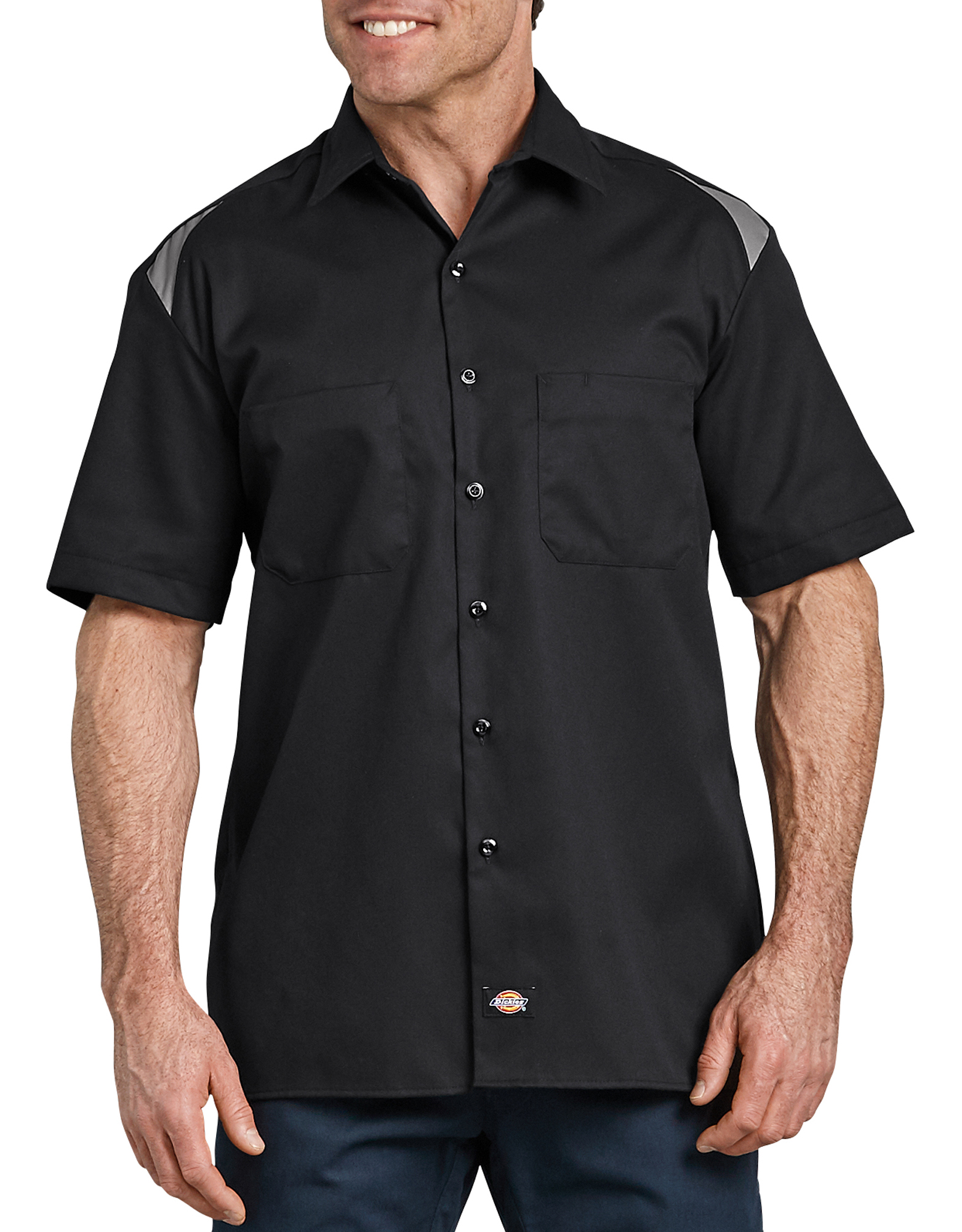 Short Sleeve Performance Team Shirt - Black Gray Tone (BKSM)