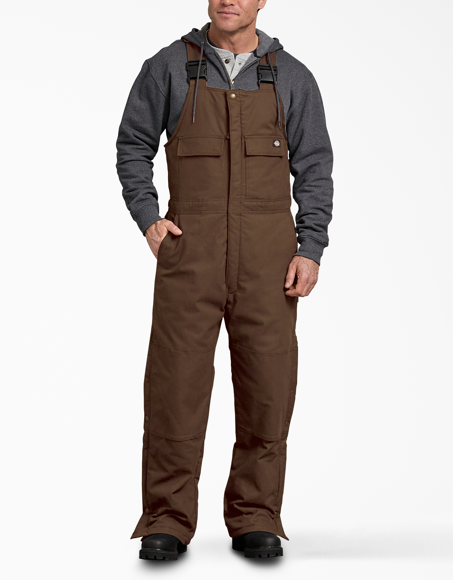FLEX Sanded Duck Insulated Bib Overalls - Timber Brown (TB)