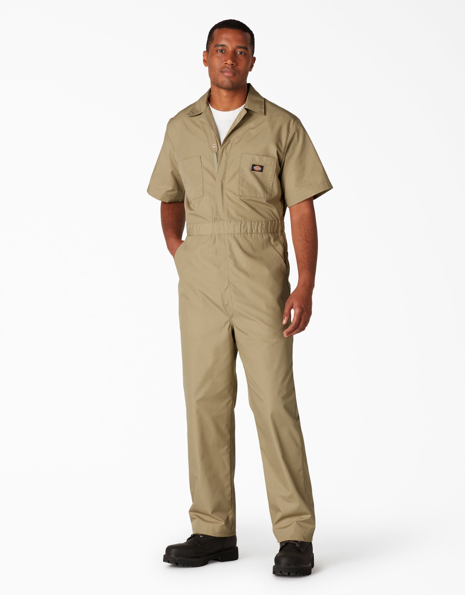 Short Sleeve Coveralls - Military Khaki (KH)