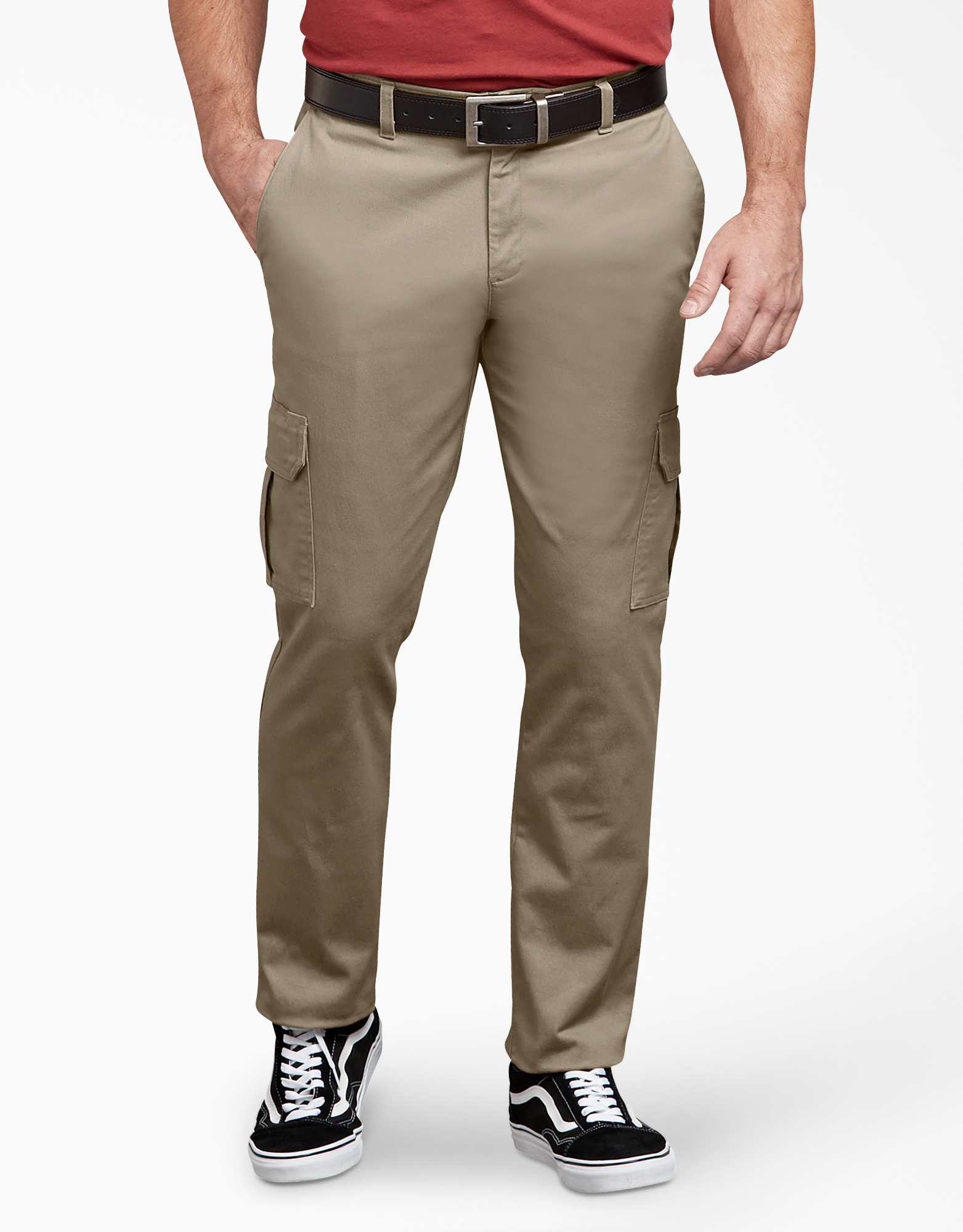 Dickies X-Series Active Waist Washed Cargo Chino Pants - Desert Khaki (RDS)