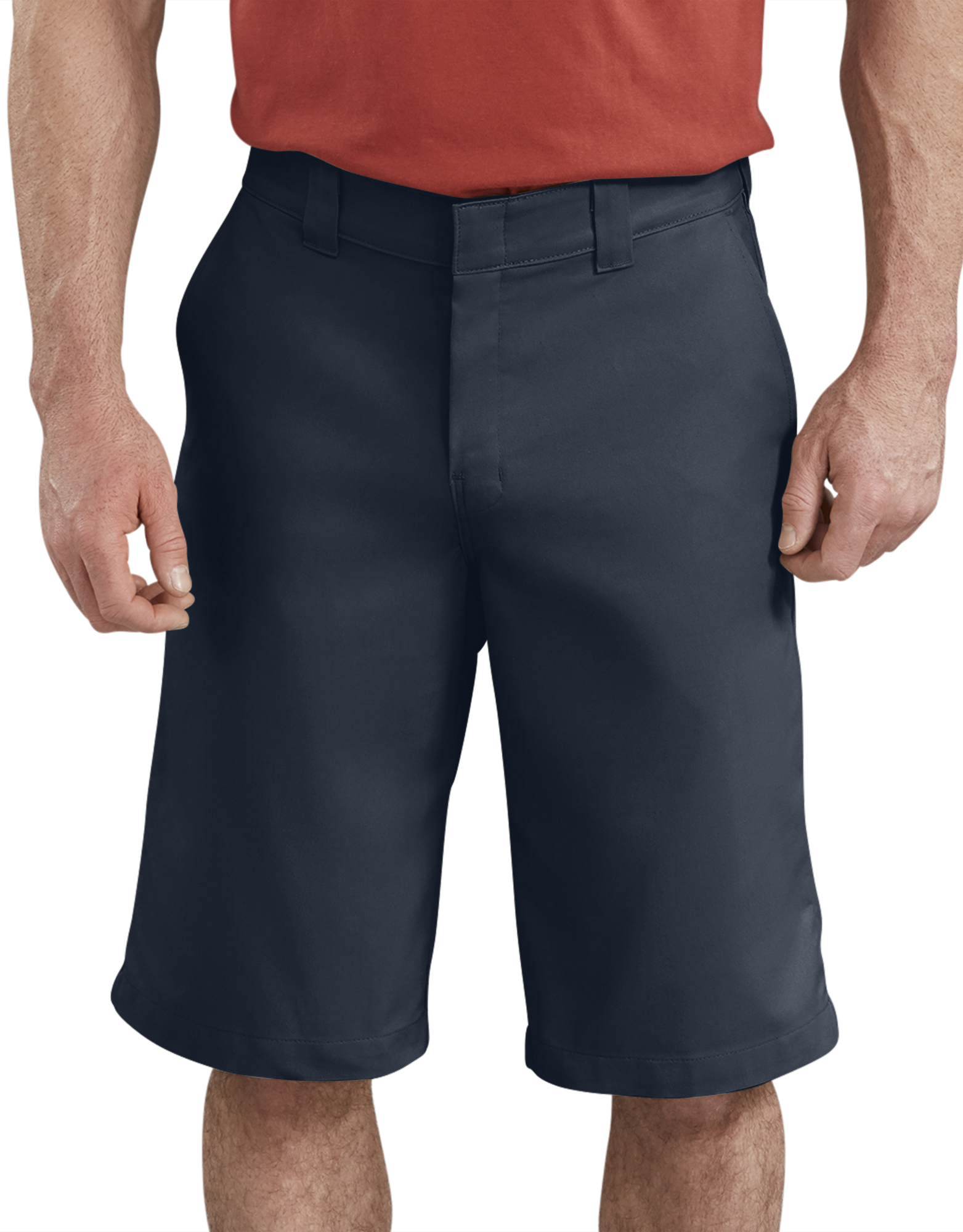 "13"" FLEX Temp-iQ™ Active Waist Flat Front Shorts - Dark Navy (DN)"