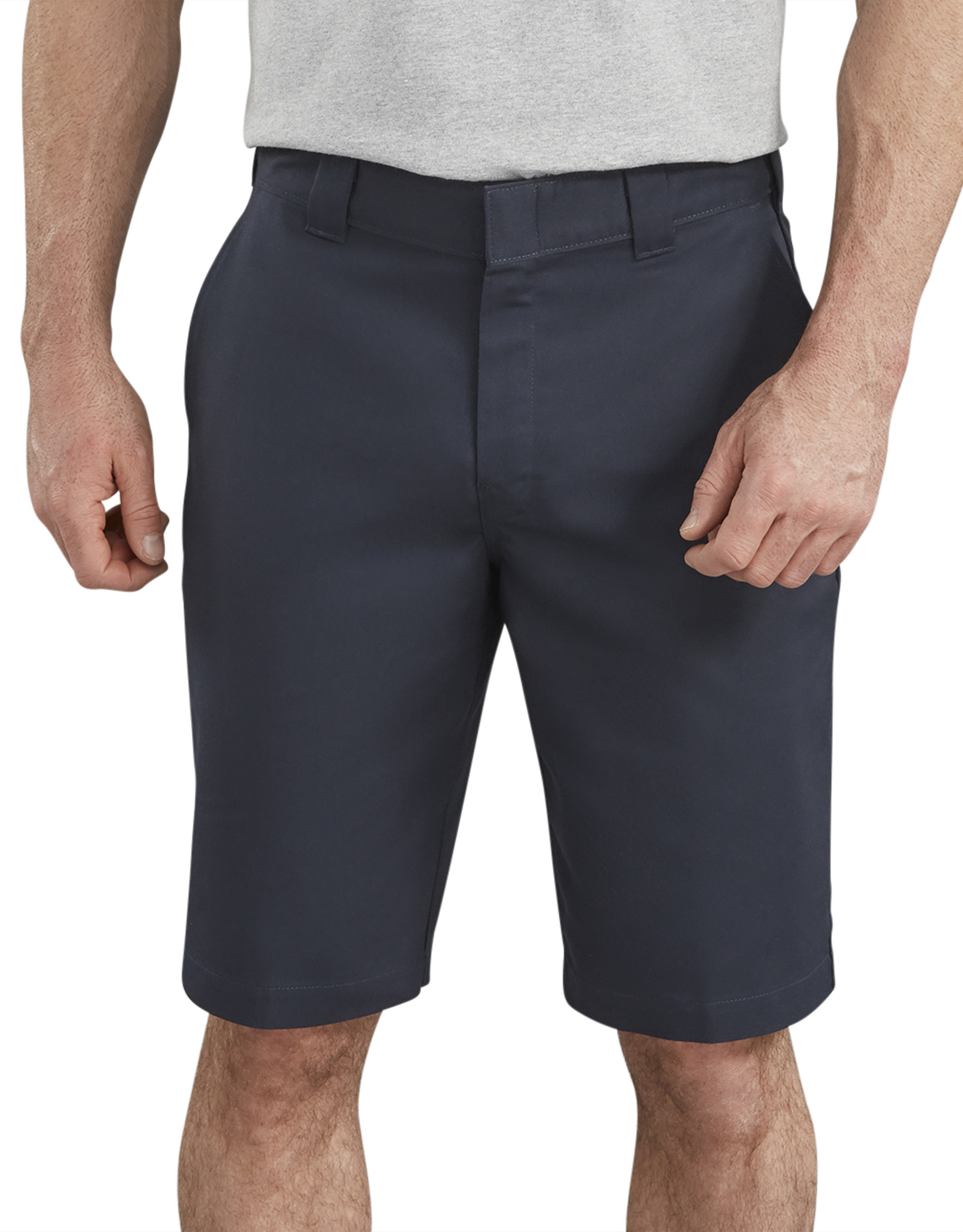 "11"" FLEX Temp-iQ™ Active Waist Flat Front Shorts - Dark Navy (DN)"