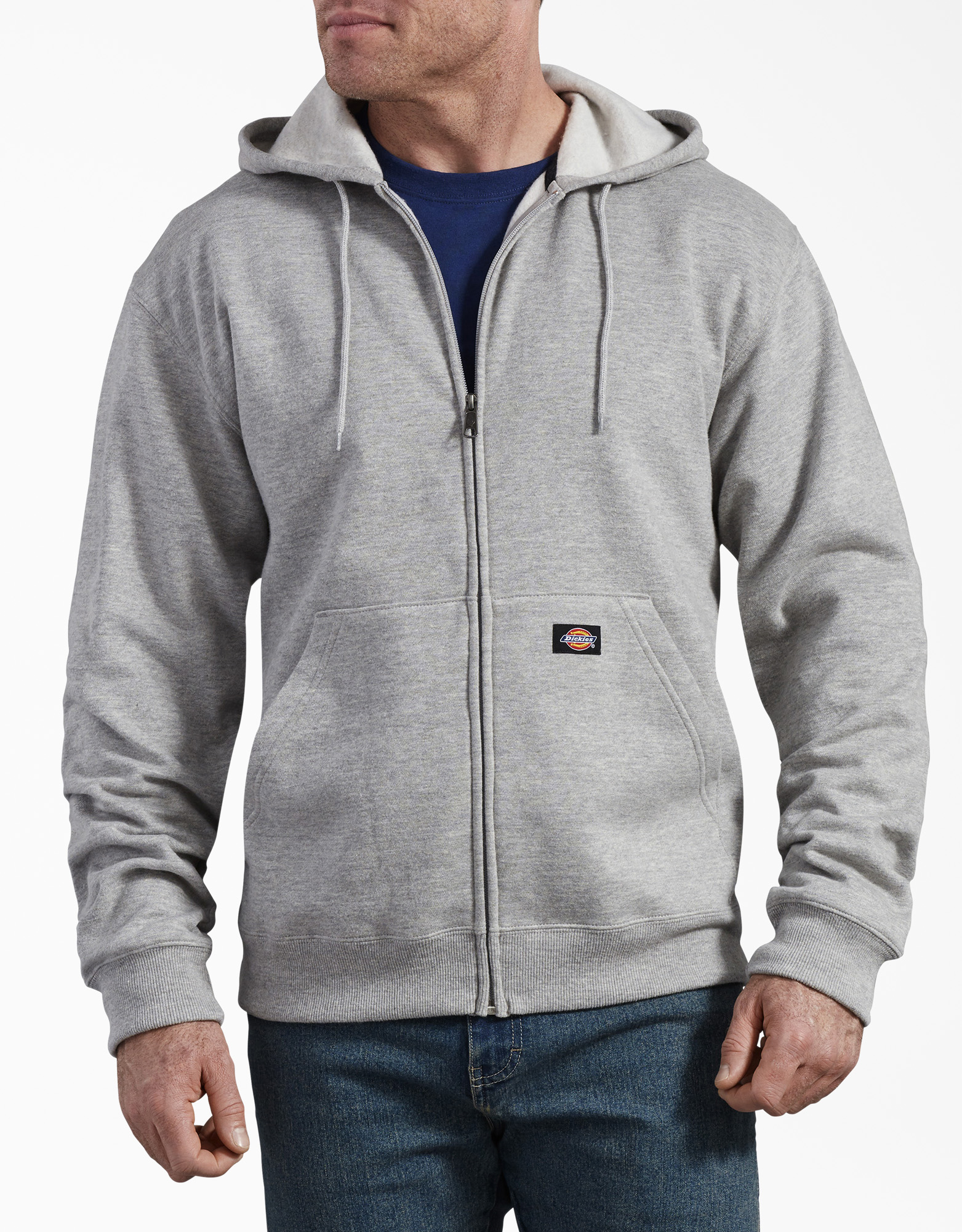 Fleece Full Zip Hoodie - Heather Gray (HG)
