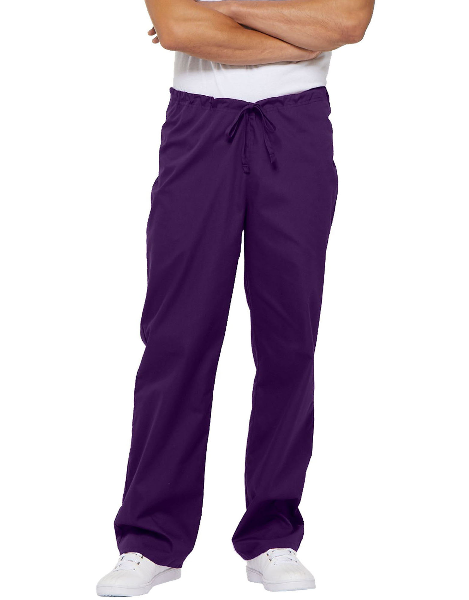 Unisex EDS Signature Scrub Pants - Purple Eggplant (EGG)