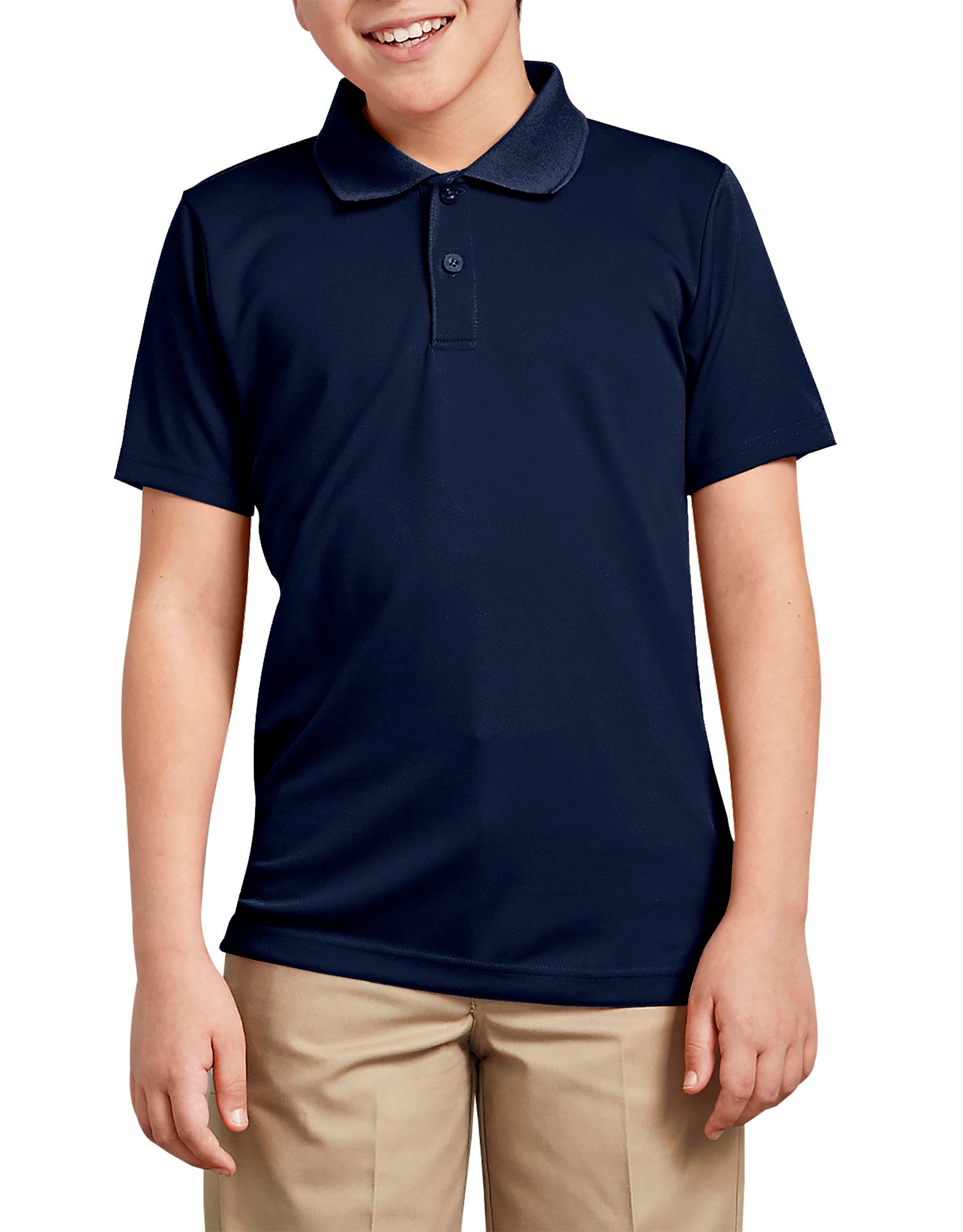 Boys' Performance Polo Shirt, 8-20 - Night Navy (IN2)