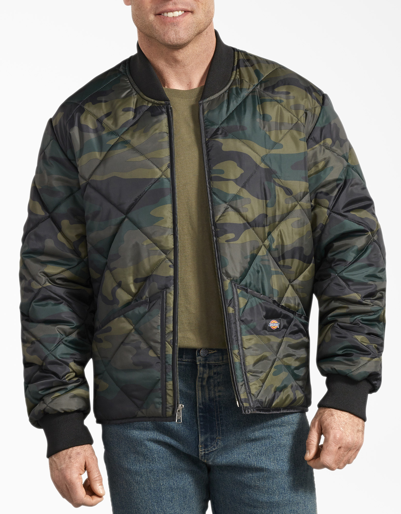 Camo Diamond Quilted Jacket - Hunter Green Camo (HRC)
