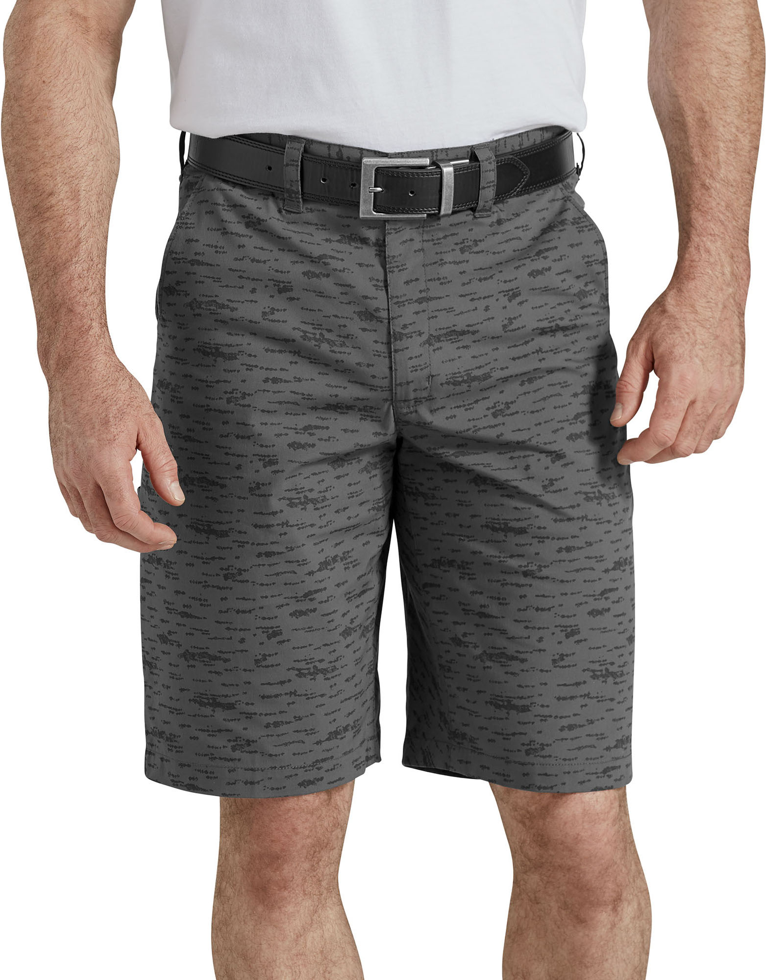 "11"" Temp-iQ™ Performance Hybrid Utility Shorts - Charcoal Texture Rock Print (CTR)"