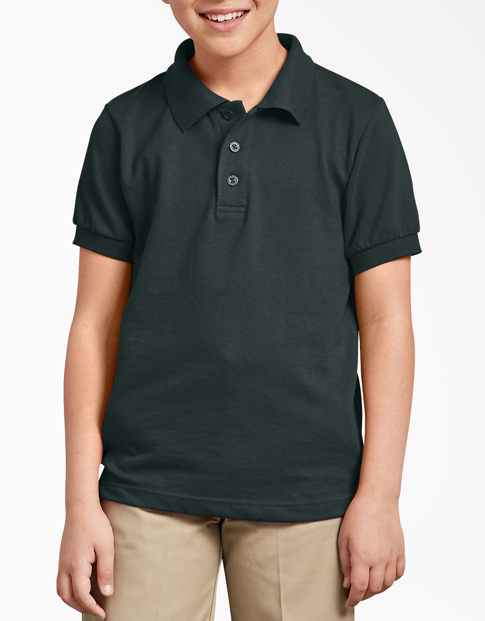 Kids' Short Sleeve Pique Polo Shirt, 4-20 - Hunter Green (GH)