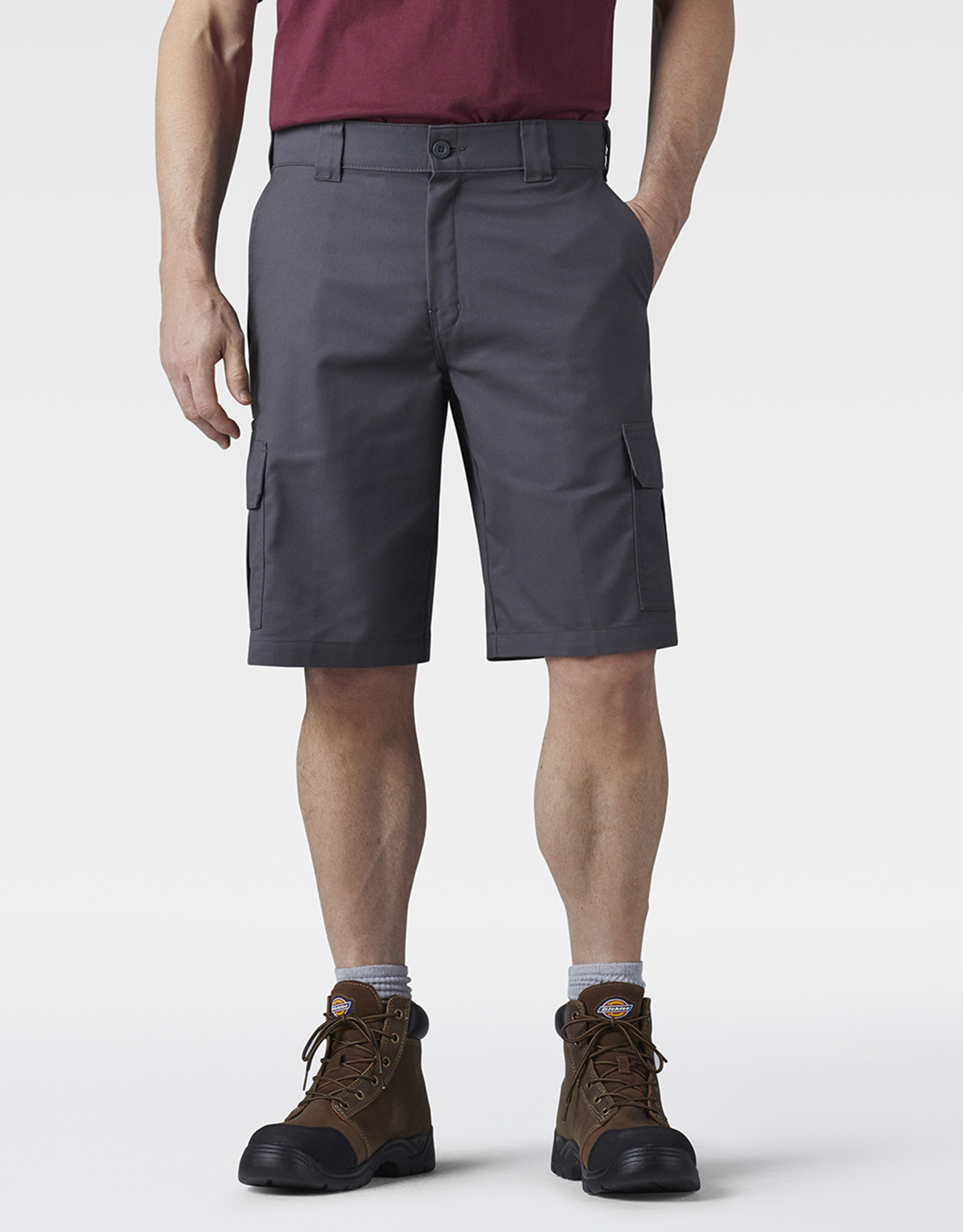 "11"" FLEX Temp-iQ™ Active Waist Cargo Shorts - Charcoal Gray (CH)"