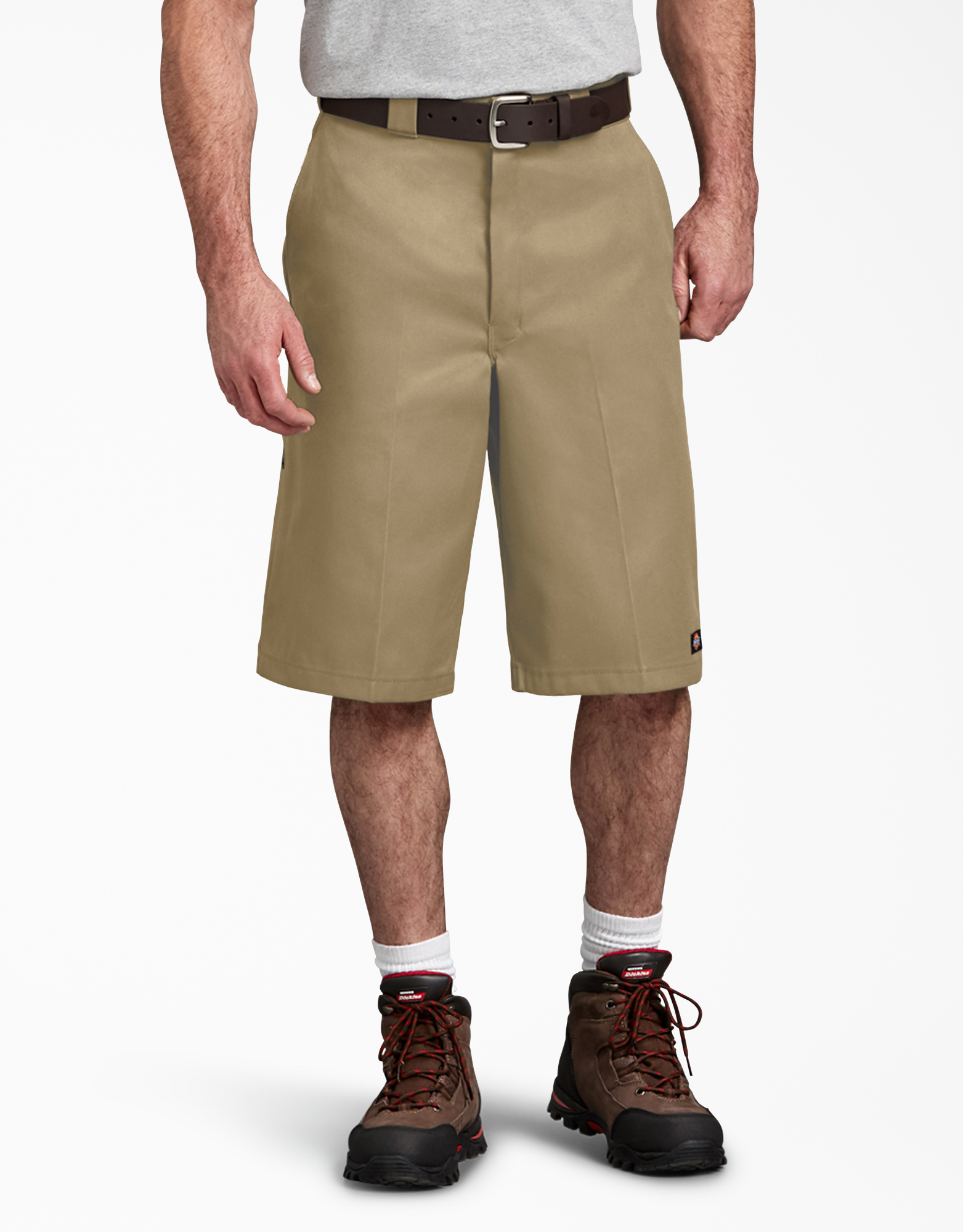 "13"" Loose Fit Multi-Use Pocket Work Shorts - Military Khaki (KH)"