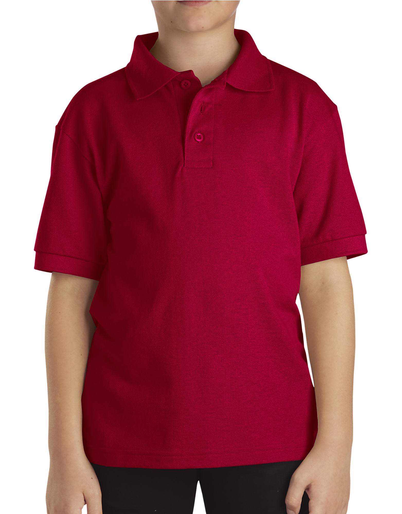 Kids' Short Sleeve Pique Polo Shirt, 4-7 - English Red (ER)